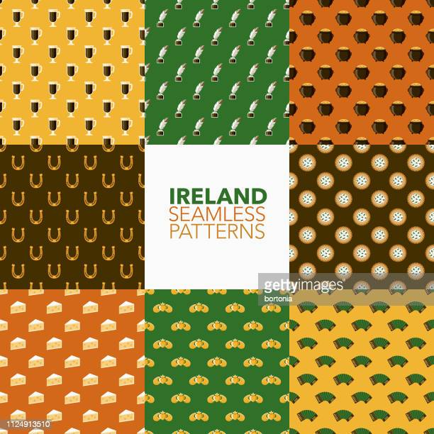Ireland Seamless Patterns