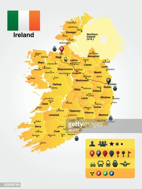アイルランド - ティッペラリー州点のイラスト素材/クリップアート素材/マンガ素材/アイコン素材