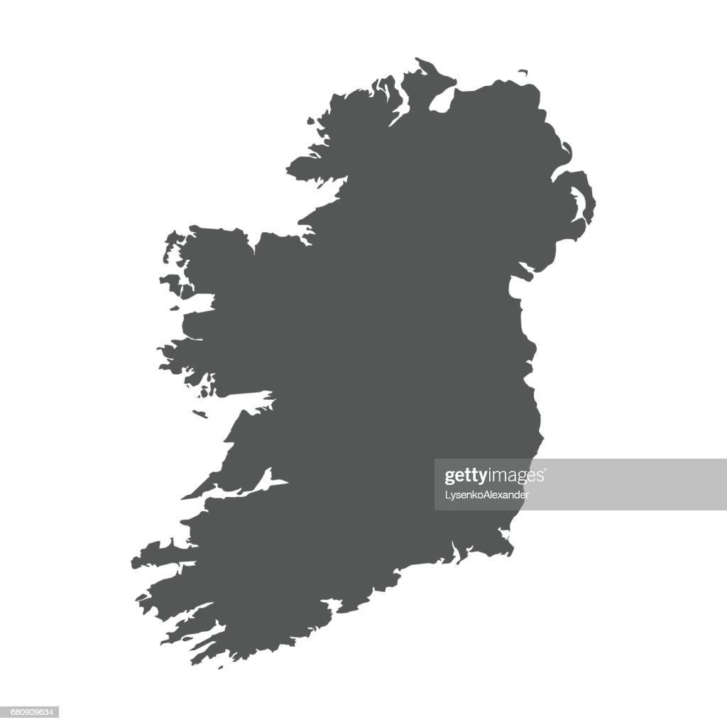 Ireland vector map.