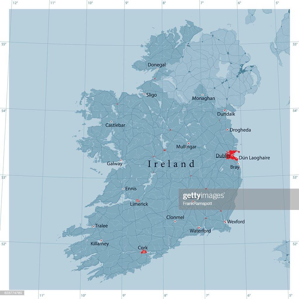 Ireland vector road map vector art getty images ireland vector road map vector art gumiabroncs Image collections