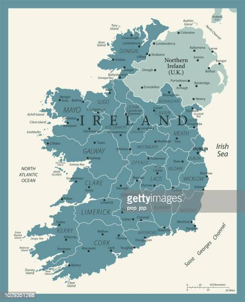 24 - ireland - vintage murena isolated 10 - ireland stock illustrations