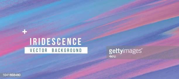 illustrazioni stock, clip art, cartoni animati e icone di tendenza di iridescent spectrum colors abstract blue background - alla moda