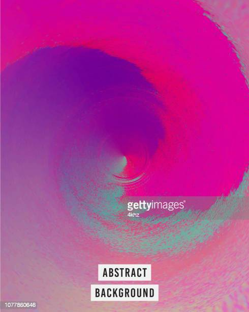 iridescent whirling vortex surreal background - spinning stock illustrations