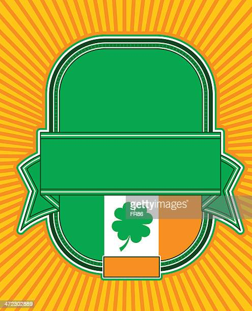 irish beer label - plaque bacteria stock illustrations