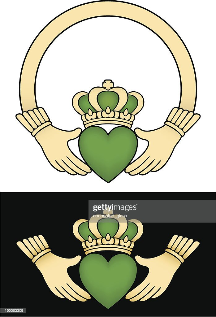 Irish Claddagh Loveloyalty And Friendship Symbol Vector Art Getty