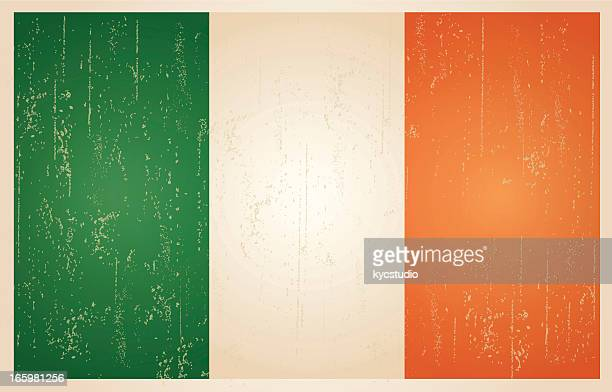 Irish grunge vintage flag