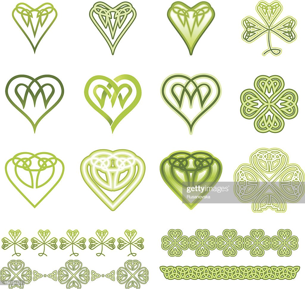 Irish Hearts and Clovers Set