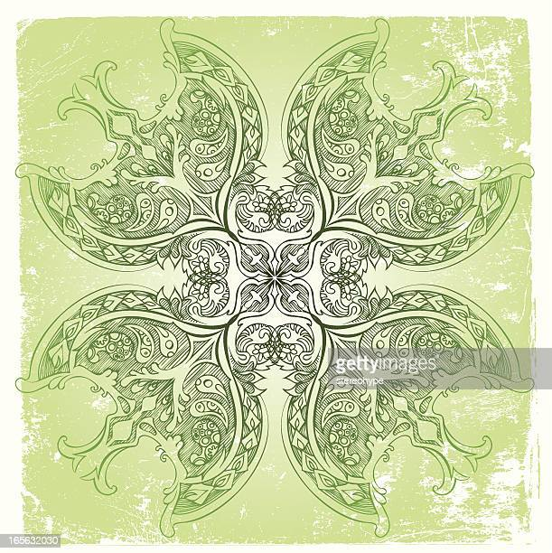 irish mandala - celtic cross stock illustrations, clip art, cartoons, & icons
