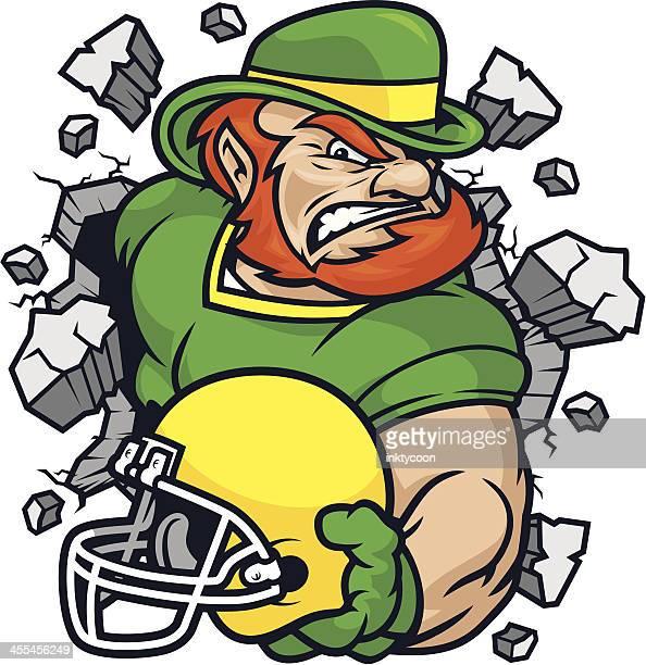 illustrations, cliparts, dessins animés et icônes de mascotte irlandais terrain de football - catastrophe aérienne