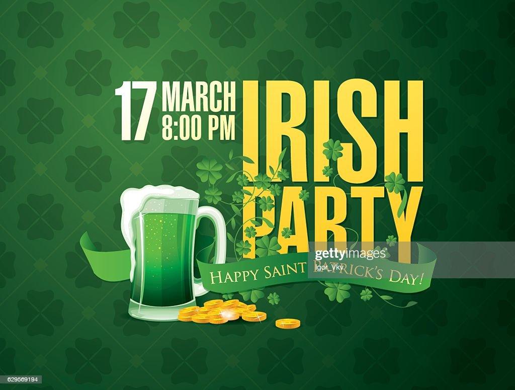 Irish party. Happy Saint Patrick's day