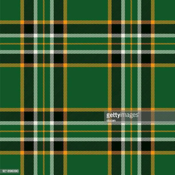 irish tartan seamless pattern background - traditional clothing stock illustrations