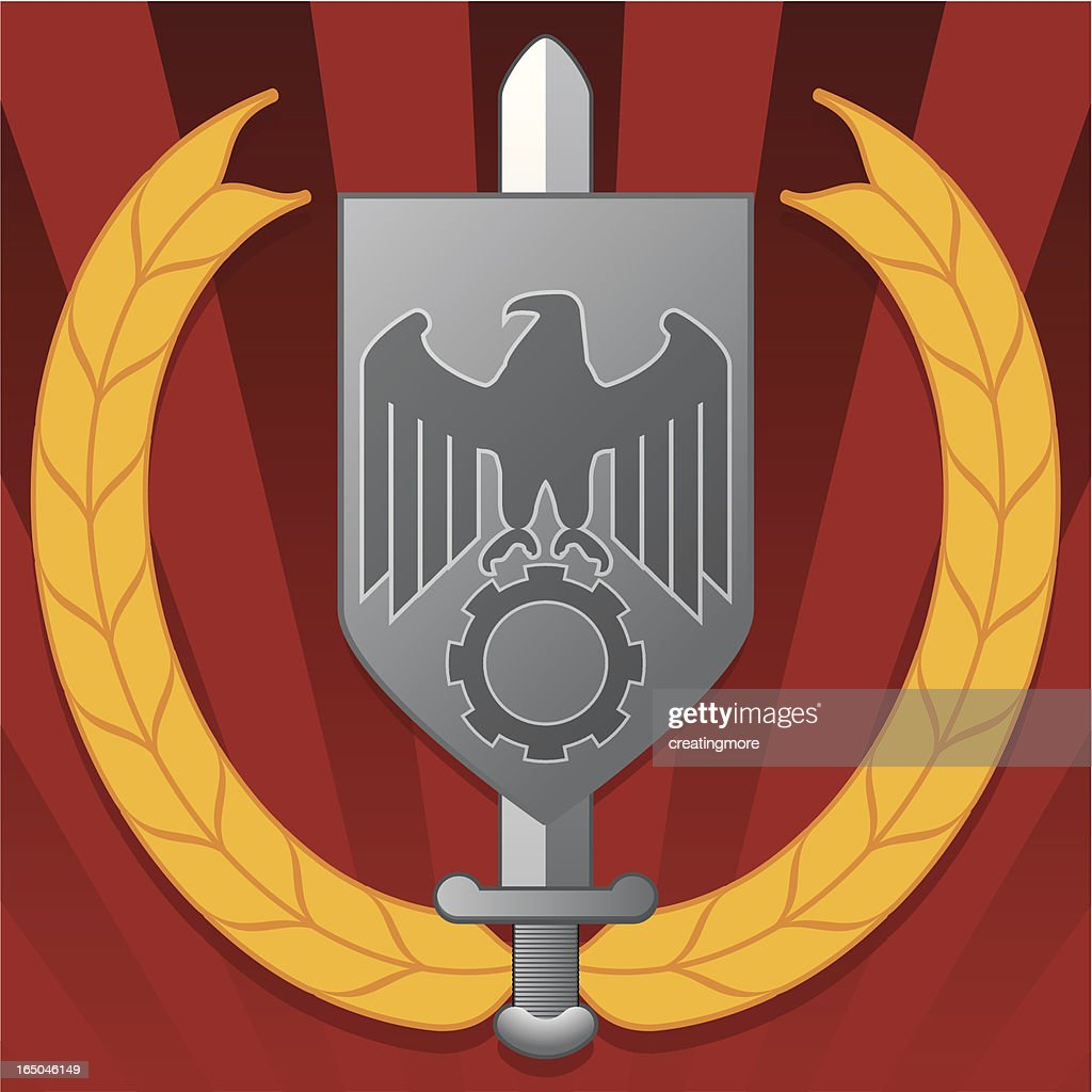 Iron eagle shield vector art getty images iron eagle shield vector art buycottarizona Gallery