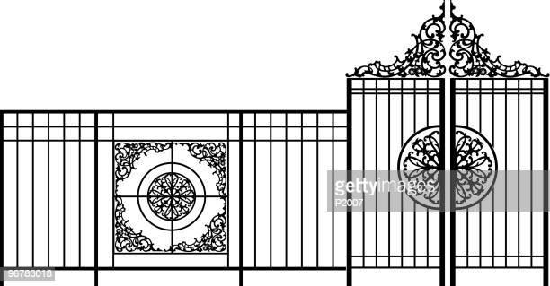 bügeleisen-tor - eisen stock-grafiken, -clipart, -cartoons und -symbole