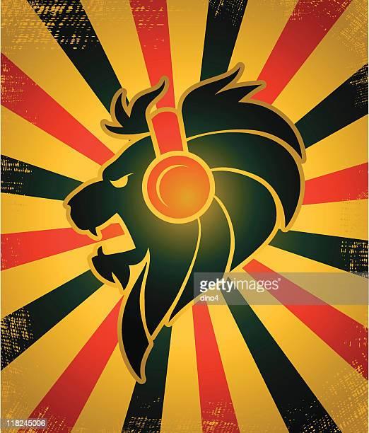 iron lion jam - rastafarian stock illustrations, clip art, cartoons, & icons