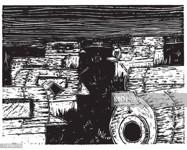 stockillustraties, clipart, cartoons en iconen met ijzeren longen in het veld - ijzeren long