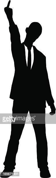 illustrations, cliparts, dessins animés et icônes de énervés homme d'affaires - doigt dhonneur