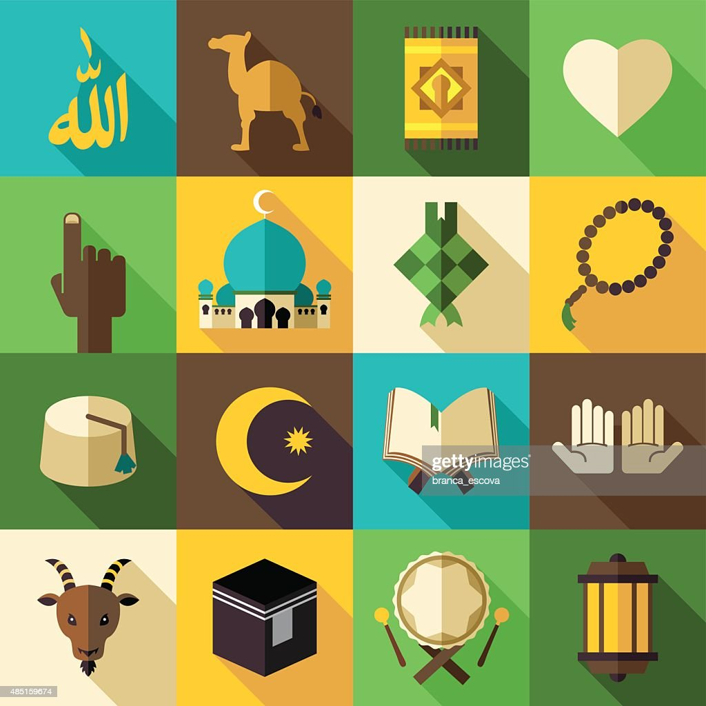 Islam Flat Modern Icon Vector Illustration