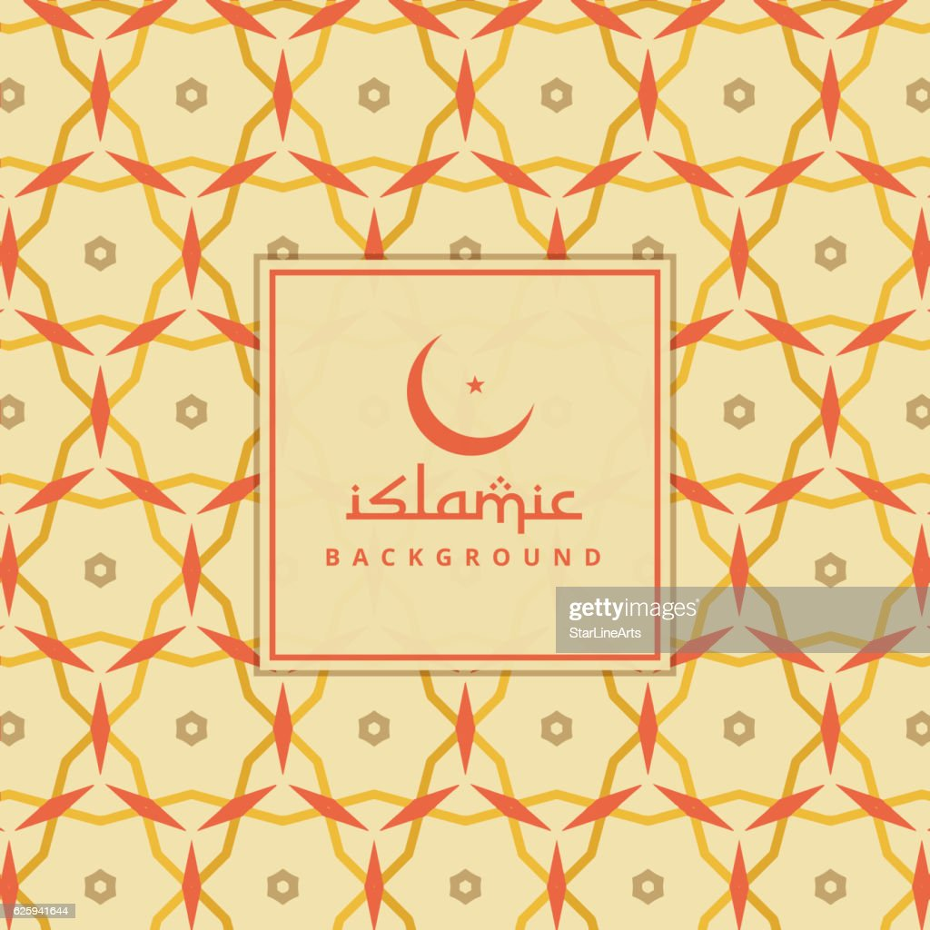 islamic background with colorful pattern