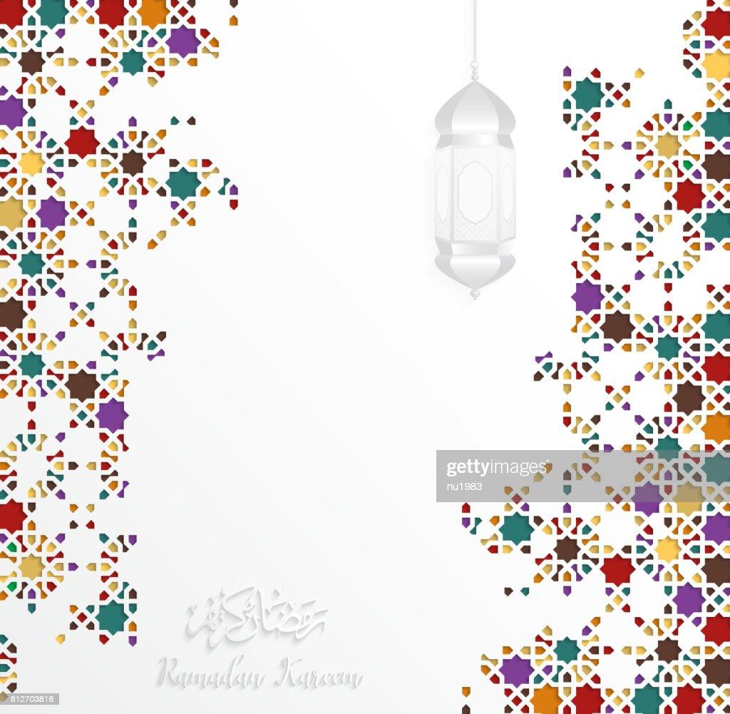 islamic design greeting card template for ramadan kareem