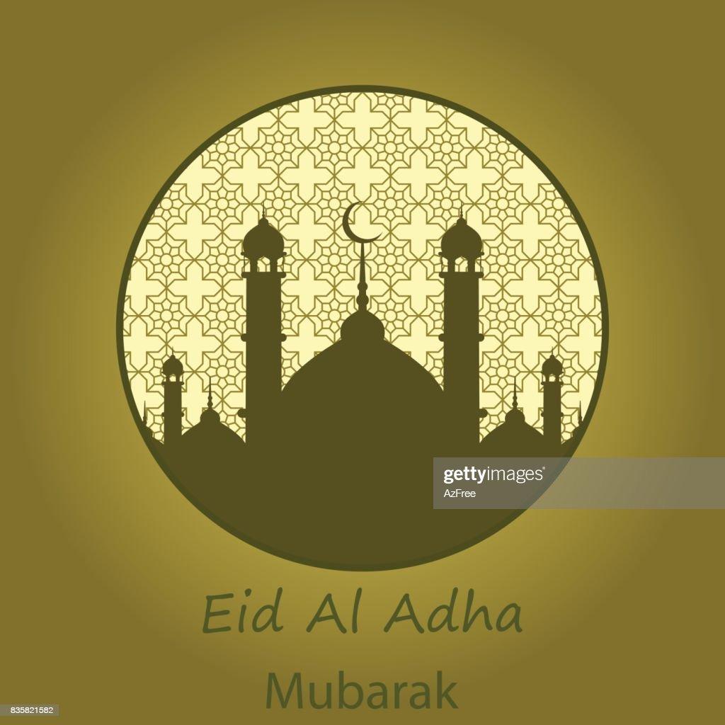 Islamic Festival Of Sacrifice Eid Al Adha Mubarak Greeting Card