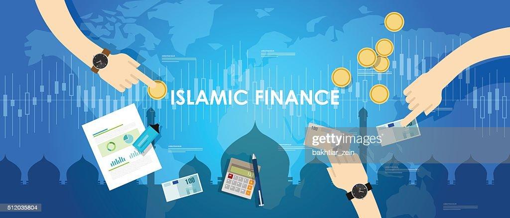 islamic finance economy islam banking money management concept sharia bank