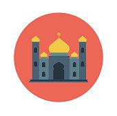 Islamic Flat Icon, Mosque icon-Vector Flat Design