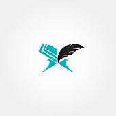 Islamic icon design idea with Koran concept.