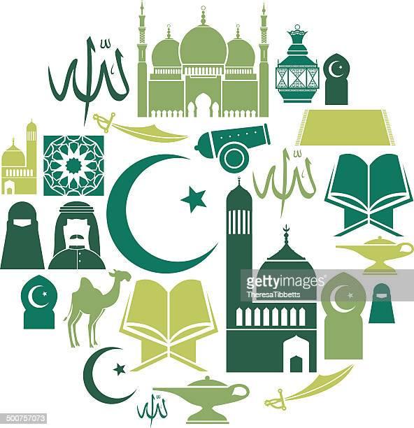 islamic icon set - fasting activity stock illustrations, clip art, cartoons, & icons