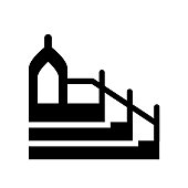 Islamic Minbar icon. Trendy Islamic Minbar logo concept on white background from Religion collection