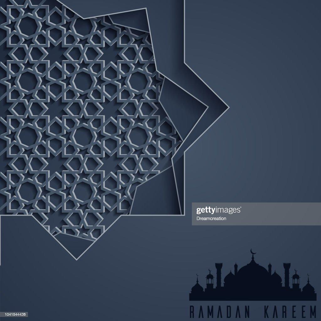 Islamic ramadan kareem greeting card template