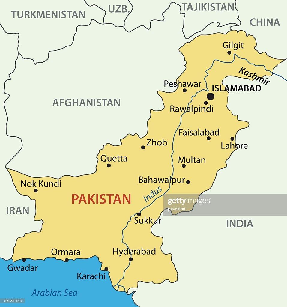 Islamic Republic of Pakistan - vector map