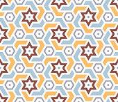 Islamic seamless background. Traditional Arabic geometric pattern. Vector illustration.