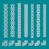 Islamic seamless border ornament set for decoration