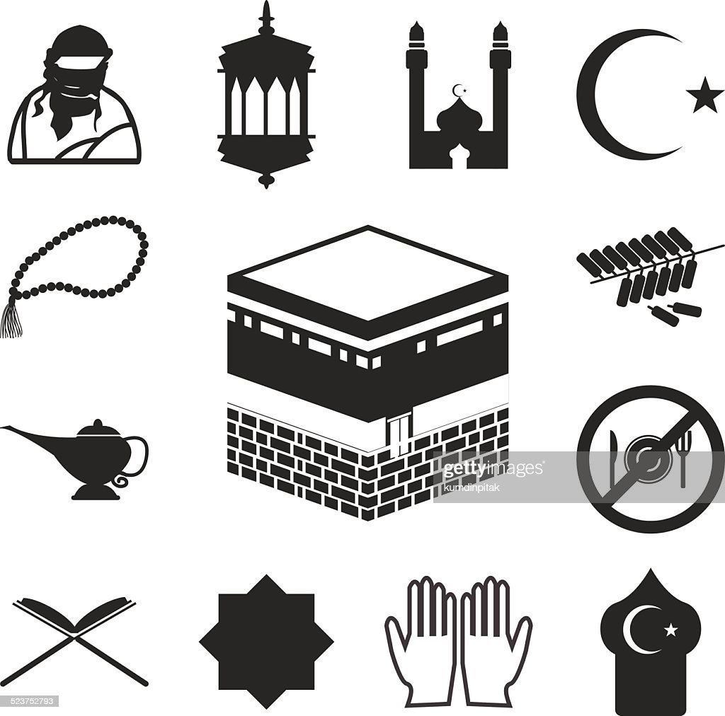 Islamic website icons set. EPS 10.
