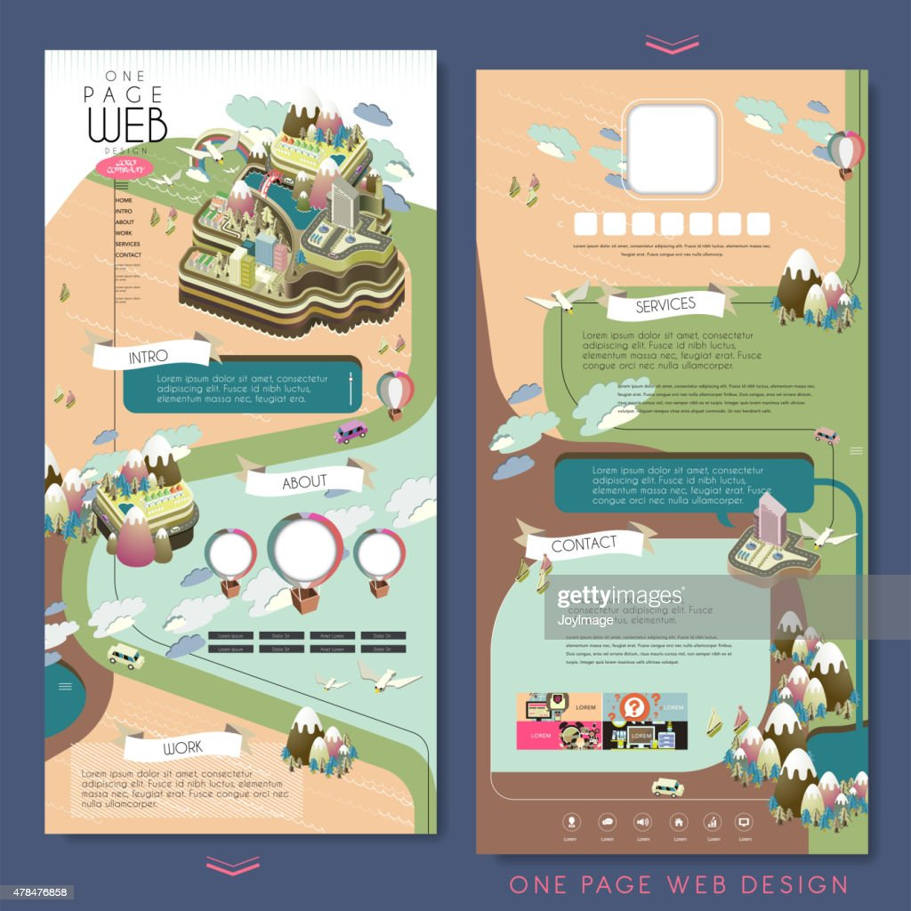 island scenery one page website design template