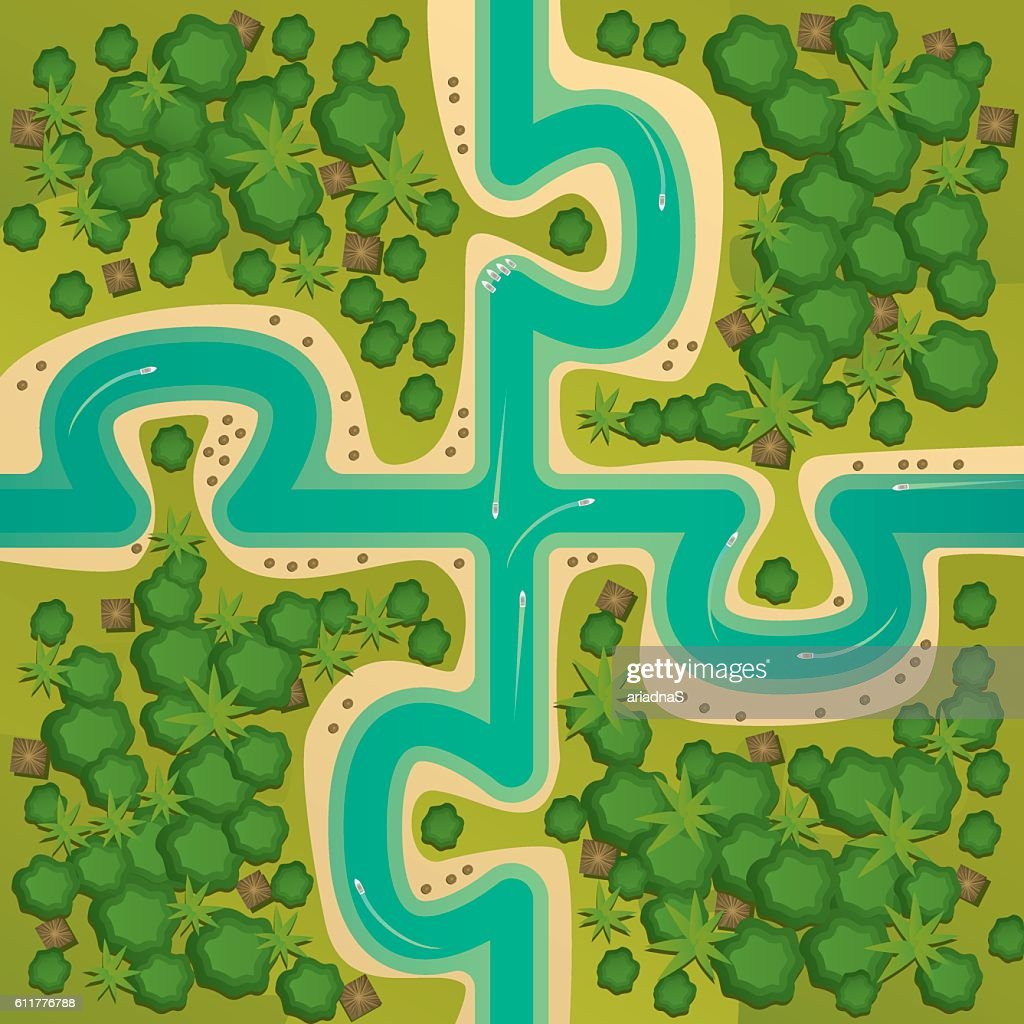 Islands in the form of connecting puzzles