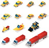 Iso Icons : industrial vehicles