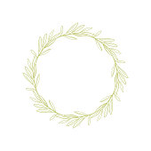Isolated abstract handdrawn round shape. Natural symbol.