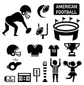 isolated american football icon illustration