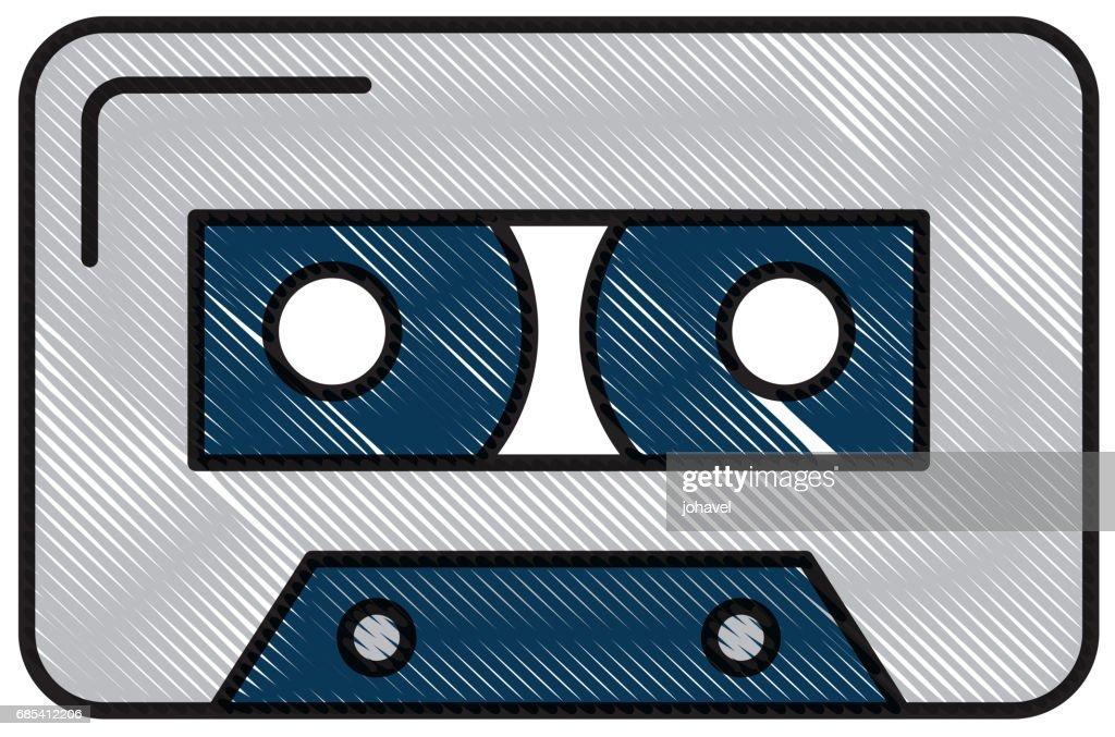 isolated audio cassette tape