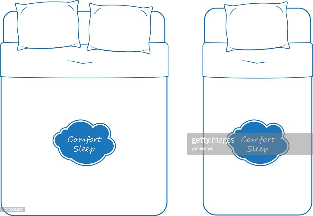 Isolated Bedding Icon Set, Outline Vector