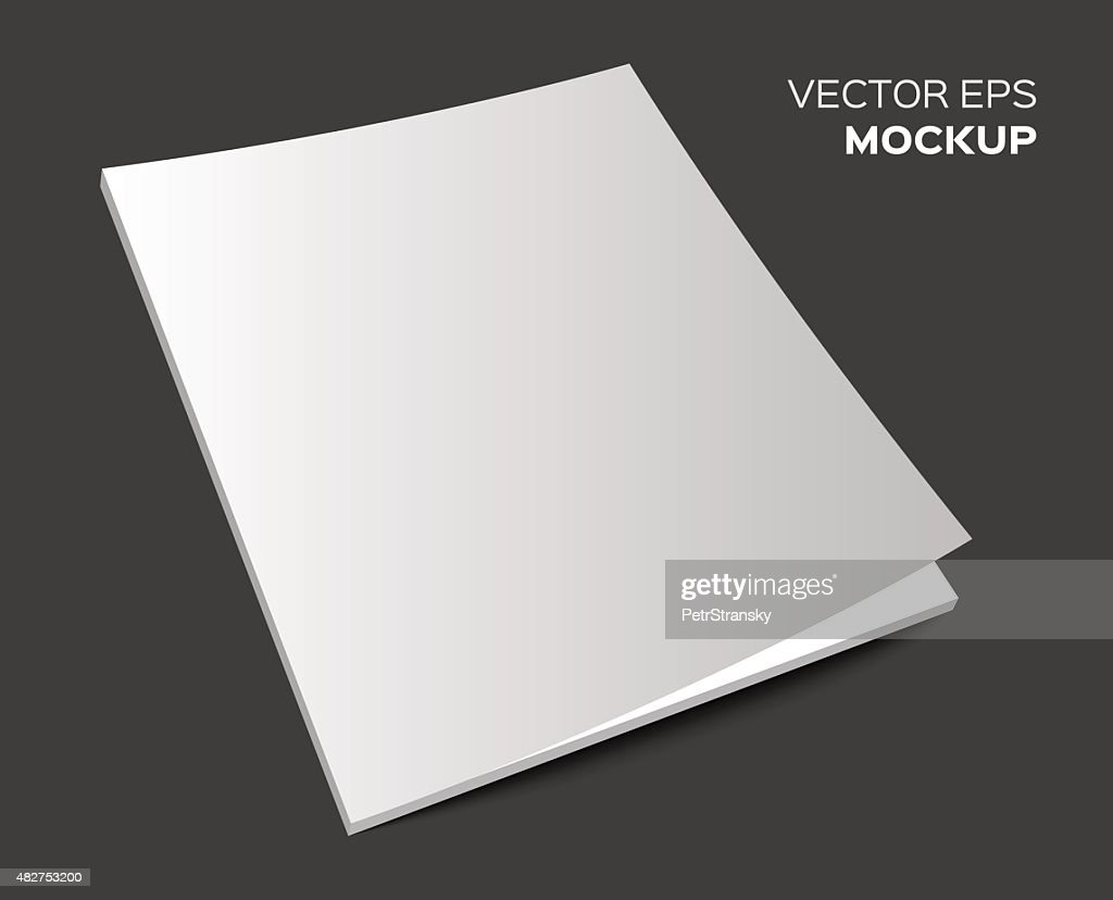 isolated blank magazine mockup