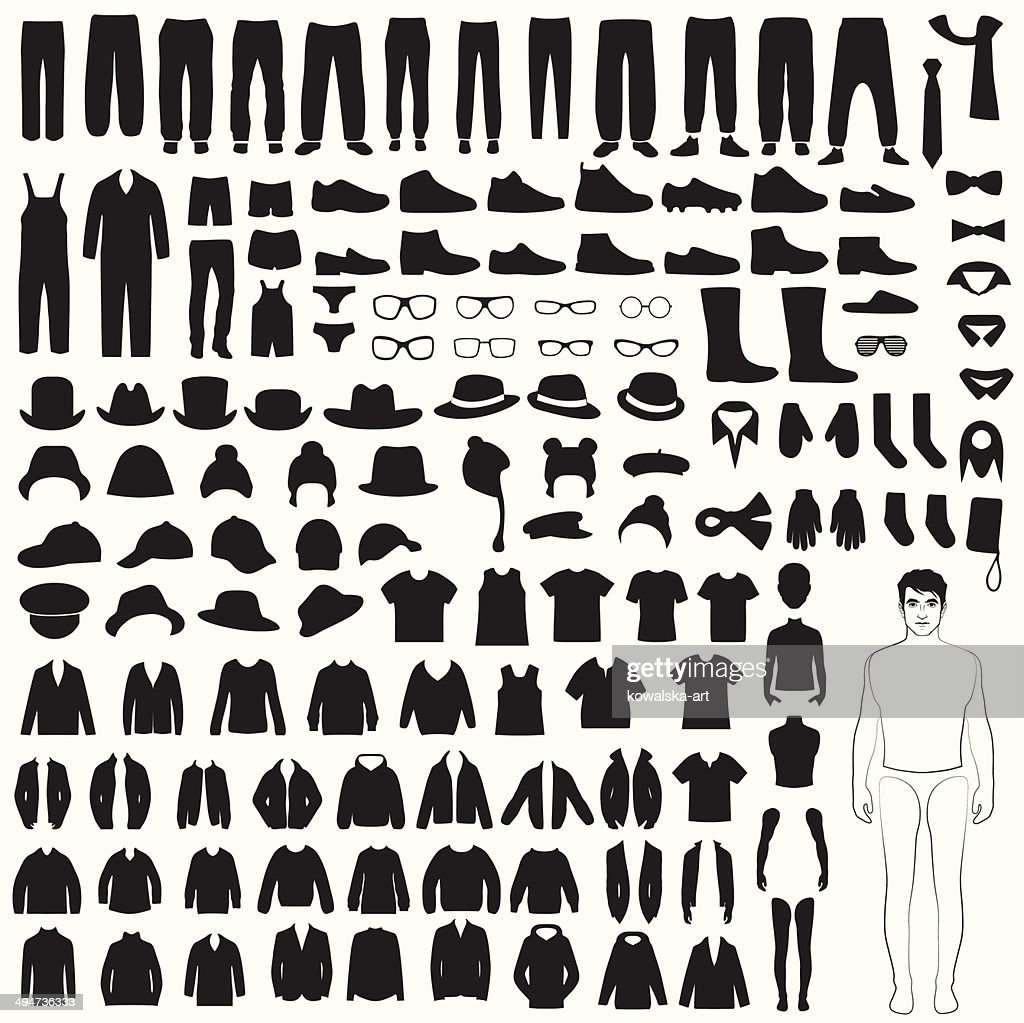 isolated clothing silhouette