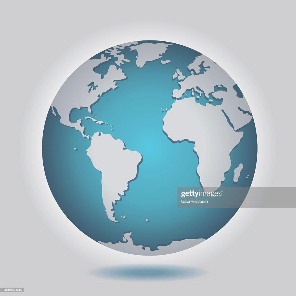 Isolated Earth Globe