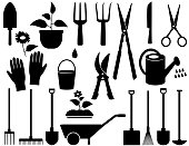 isolated garden tools