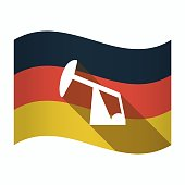 Isolated Germany flag with a horsehead pump