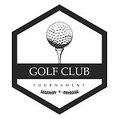 Isolated golf emblem