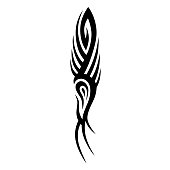 TATTOO TRIBAL SLEEVE DESIGNS. Isolated graphic design element. Decorative element for design in tribal style.
