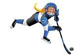 Isolated Hockey Vector Girl Player