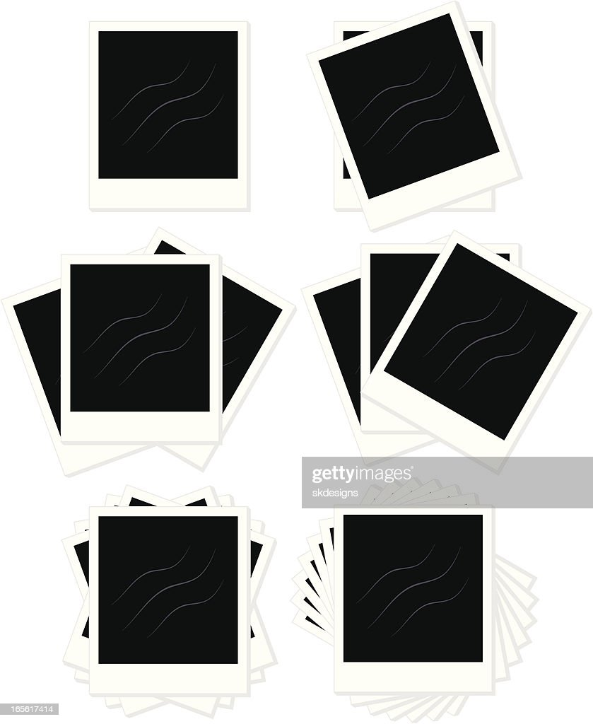 Isolated Instant Print Frames Set In Several Layout Styles Vector ...